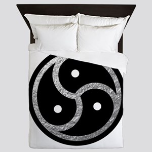 Silver Look BDSM Emblem Queen Duvet